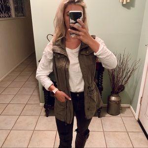Jackets & Blazers - Green utility vest